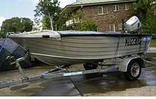 3.85M (13ft) Seajay With full cover, 30hp Honda, elect start T&T, carpeted floor, all safety, $5500 ono. Ph 41235075