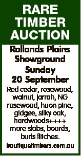 RARE TIMBER AUCTION