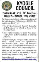 Excavator & Grader