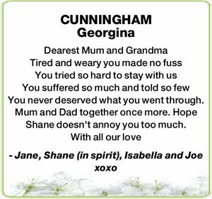 CUNNINGHAM Georgina
