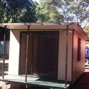 6m x 3m, with covered deck