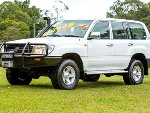 1998 Toyota Landcruiser FZJ105R RV White 4 Speed Automatic Wagon
