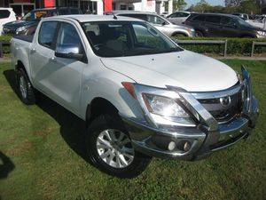 2012 Mazda BT-50 XTR (4x4) White 6 Speed Manual Dual Cab Utility