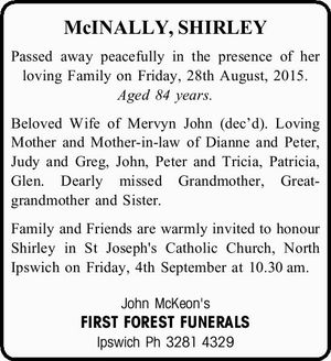 McINALLY, SHIRLEY