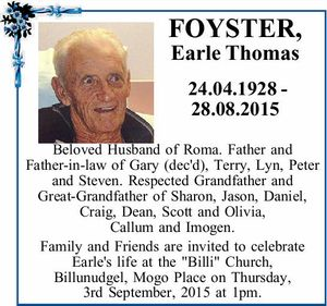 FOYSTER, Earle Thomas