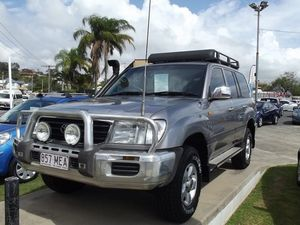 2001 Toyota Landcruiser HDJ100R GXL Grey 4 Speed Automatic Wagon