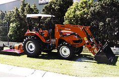 power steer, 4WD, 4 in 1 FEL, 5ft slasher.
