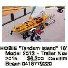 """HOBIE """"Tandem Island"""" 18' Model 2013 - Trailer Nov 2015 $6,300 Coolum Beach 0418779220"""