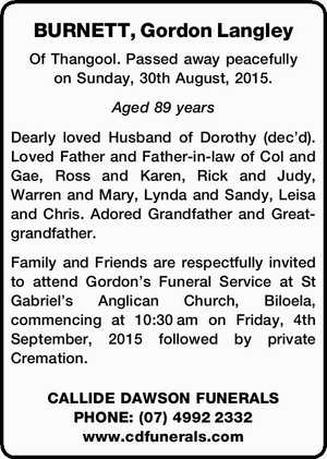 BURNETT, Gordon Langley
