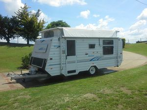 2004  POP TOP  Rego 6/16  17 foot  dbl island bed  full annex  1341GVM  Elect breaks  All hose & leads good cond  $18,900  0427025005