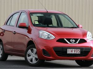 2015 Nissan Micra K13 Series 4 MY15 ST Roma Red 4 Speed Automatic Hatchback
