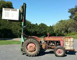 Fergie 35, 4 cyl, diesel w/ Dalmore hydrolic forks   Lift to 3 metre, good cond, $3,500 Ph: 66287050