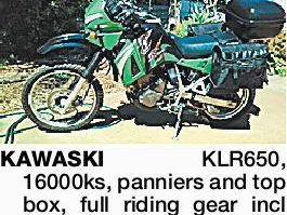 Kawasaki motorbike for sale
