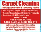 Carpet Cleaning   Call Howard or Jenny   54653420 or 0458 065 970