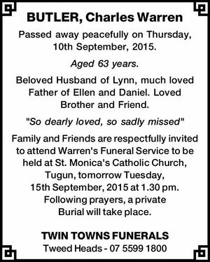 BUTLER, Charles Warren