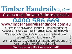 Give us a call for your Balustrade needs.