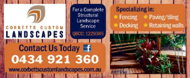 For a Coming in: Fencing Decking Paving/tiling Retaining walls