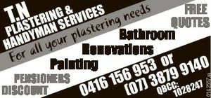 For all your plastering needs.