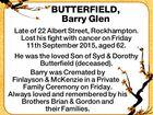 BUTTERFIELD, Barry Glen