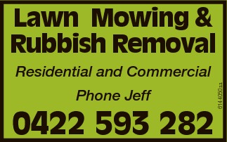 Phone Jeff 0422 593 282 Residential and Commercial