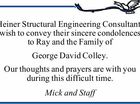 Heiner Structural Engineering Consultants wish to convey their sincere condolences