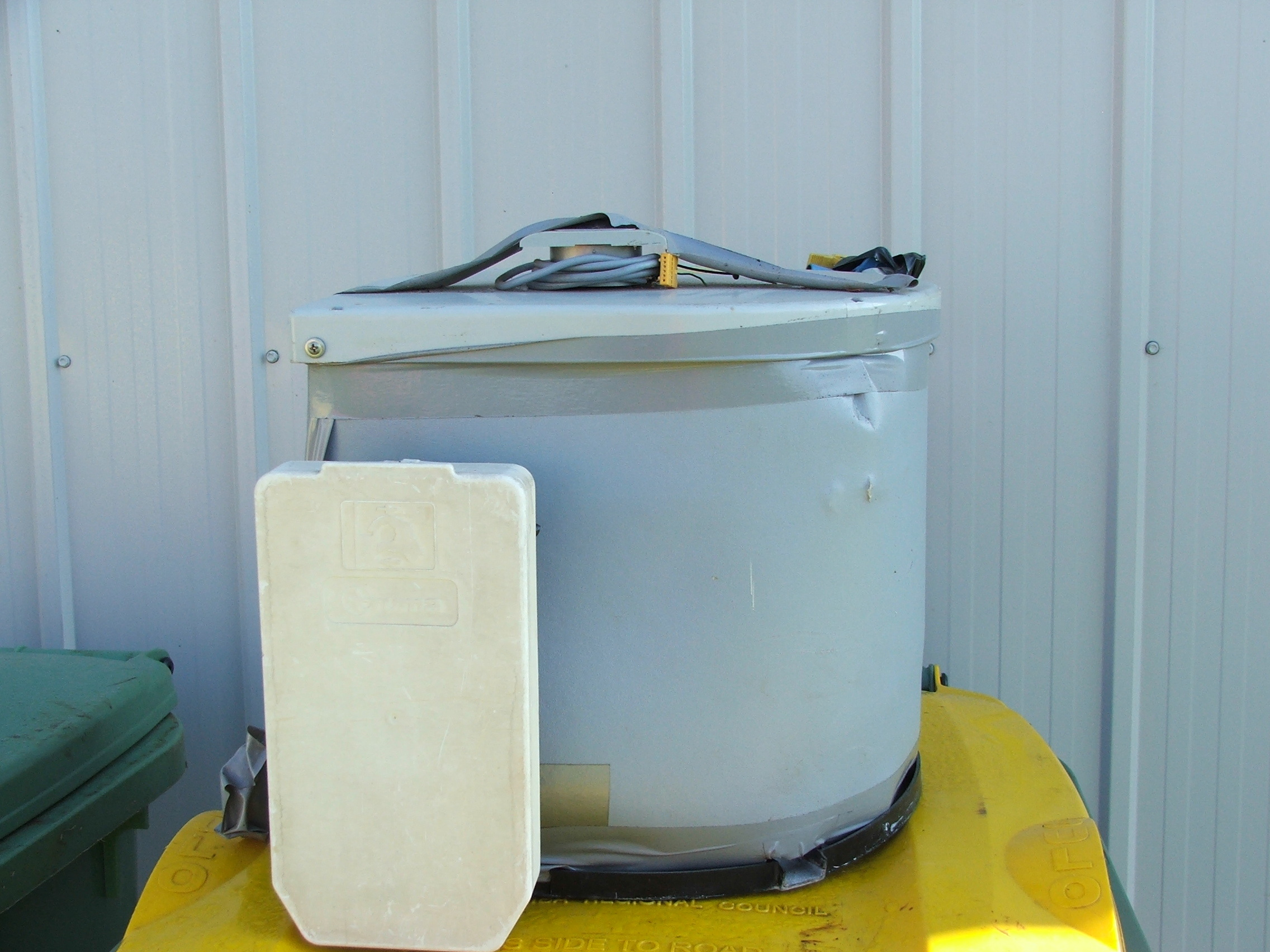 Caravan Gas Hot water system.