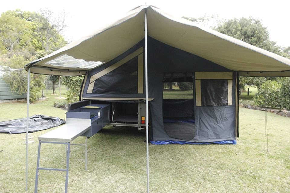 Award winning 2008 Complete Campsite, Australian made, will go anywhere, great condition, always garaged, never been used off road. Ideal for quick overnight stops, or can expand with annex for longer stays Slide-out kitchen, fridge slider, heaps of lockable storage inside and out, stairs to access innerspring  queen bed, bike ...