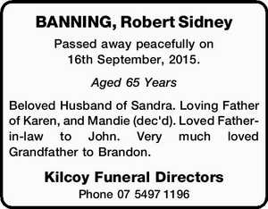 BANNING, Robert Sidney