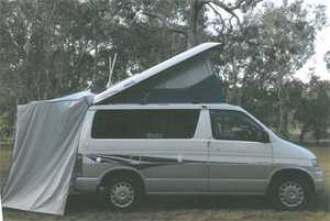CAMPER MAZDA GEKKO    turbo diesel  auto  101,104 klm  twin bed  side & rear annexes  solar panel  twin batteries  water tank & pump  shower  80L fridge  DVD/TV/Antenna   $32,500. Ph (07) 4125 2574