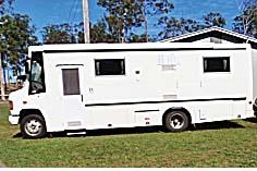 1995 Mercedes LO812    a/c  shower & toilet  3way gas fridge  gas stove & h/w  awning  LR licence reqd  $49,500  reg'd 04/16   Ph 4129 6178 / 0428 299 147