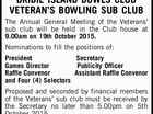 NOTICE OF ANNUAL GENERAL MEETING BRIBIE ISLAND BOWLS CLUB VETERAN'S BOWLING SUB CLUB