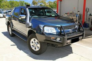 2012 Holden Colorado LTZ Automatic with just over 100,000klms.   This Dual Cab 4X4 looks brilliant in Blue Mountain and has been very well maintained.  Our LTZ comes very well equipped with Steel Bullbar, Snorkel, 2 inch lift kit, Mickey Thompson Baja Tyres, and Towbar.  This vehicle is truly ready ...