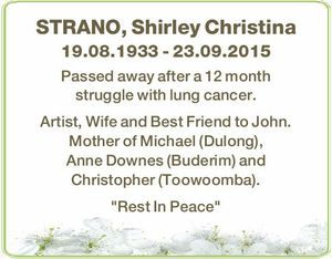 STRANO, Shirley Christina