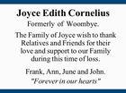 Joyce Edith Cornelius