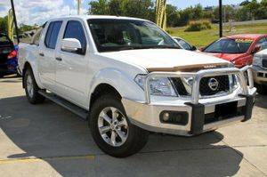 2012 Navara D40 ST Queenslander with only 86,116klms since new!  This great 4X4 has been kept in very good condition and looks great in White with Tinted Windows and Factory Alloy Wheels.  This Queenslander edition comes well equipped with Alloy Bullbar, Towbar, Soft Tonneau, and a complete Log Book ...