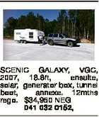 SCENIC GALAXY, VGC, 2007, 18.8ft, ensuite, solar, generator box, tunnel boot, annexe. 12mths rego. $34,950 NEG 041 032 0152,