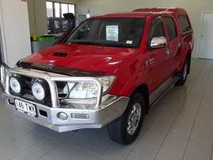 2009 Toyota Hilux KUN26R MY09 SR5 Red 4 Speed Automatic Utility