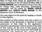 NOTICE OF INTENTION TO APPLY FOR GRANT