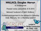 WALLACE; Douglas Mervyn