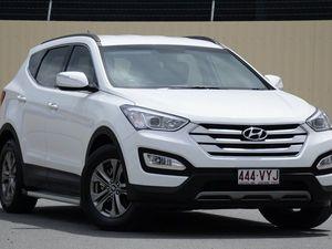 2013 Hyundai Santa Fe DM MY14 Active White 6 Speed Auto Seq Sportshift Wagon