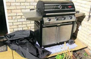Beefeater Master 2 door BBQ, 4 burner with Rotisserie, 2 burners stainless steel,