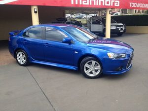 2013 Mitsubishi Lancer CJ MY13 LX Blue 6 Speed CVT Auto Sequential Sedan