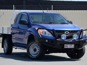 2012 Mazda BT-50 UP0YF1 XT 4x2 Hi-Rider Aurora Blue 6 Speed Manual Cab Chassis