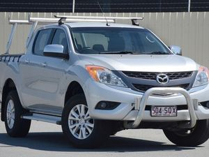 2012 Mazda BT-50 UP0YF1 XTR 4x2 Hi-Rider Silver 6 Speed Auto Seq Sportshift Utility