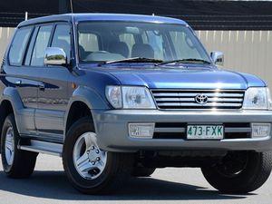 2000 Toyota Landcruiser Prado KZJ95R TX FullTime 4WD DR Blue 4 Speed Automatic Wagon