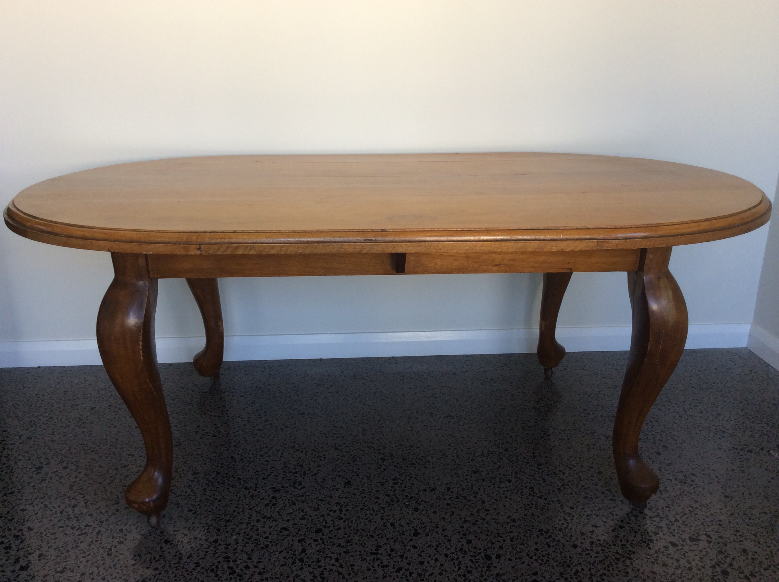 Antique Queensland Maple Dining Room Table