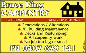 *Renovations / Alterations