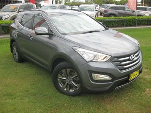 2013 Hyundai Santa Fe DM Active CRDi (4x4) Grey 6 Speed Automatic Wagon