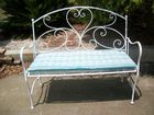 Attractive freshly painted fold up bench seat with cushion all  in gc . Can del.