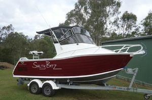 5.7m,Yamaha 130HP 2 stroke, trailer, bimini, clears, rockets, bait board, isolator, humminbird GPS/Fishfinder,live bait tank, Vhf Radio.   $10900. 4303 3066